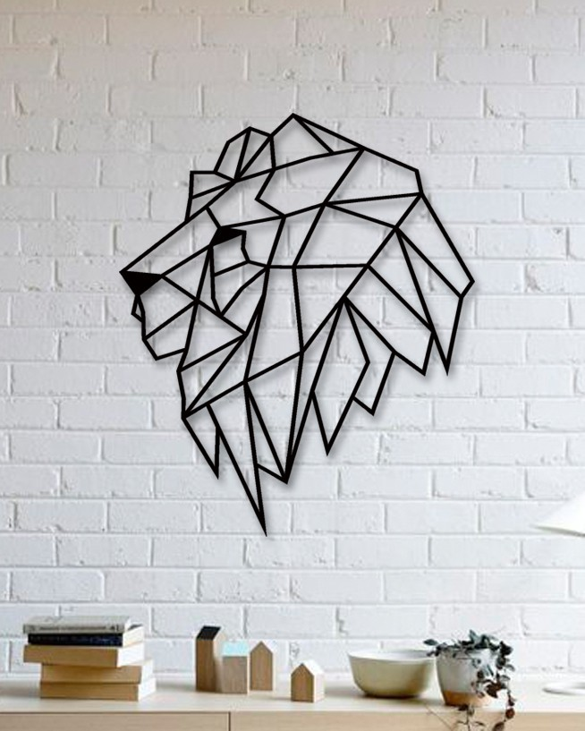 unique custom designed wall decoration product lion metal wall art