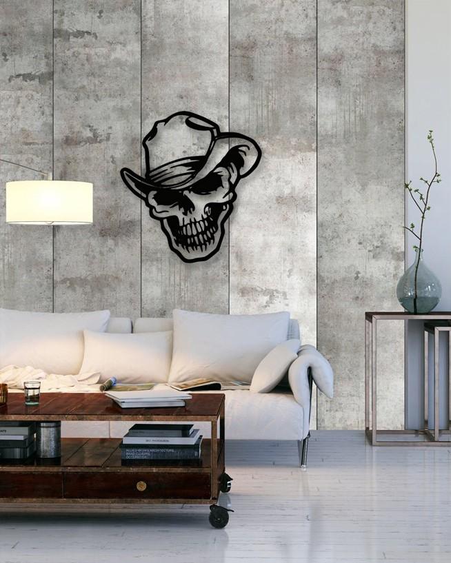 Unique custom designed wall decoration product.Skull Metal Wall Art