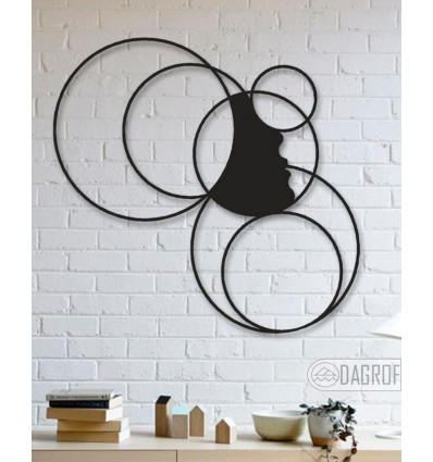 Silhouette Design Metal Wall Decoration