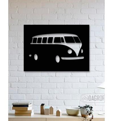 Volkswagen T2 Hippi-Van Design Metal Art