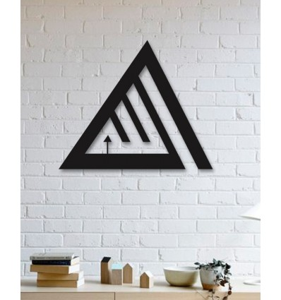 allah word triangle design islamic metal wall art home decor