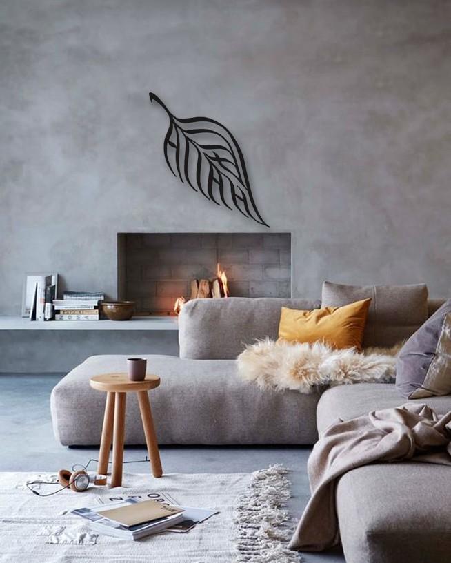 Leaf Design Islamic Metal Wall Art Home Decor - DAGROF